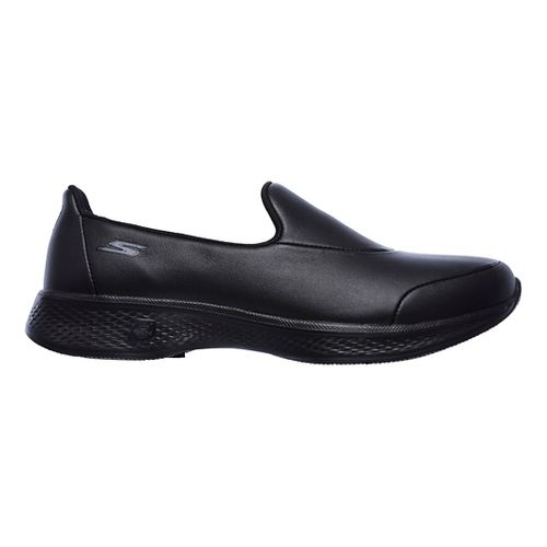 Womens Skechers GO Walk 4 - Upscale Casual Shoe - Black 6.5
