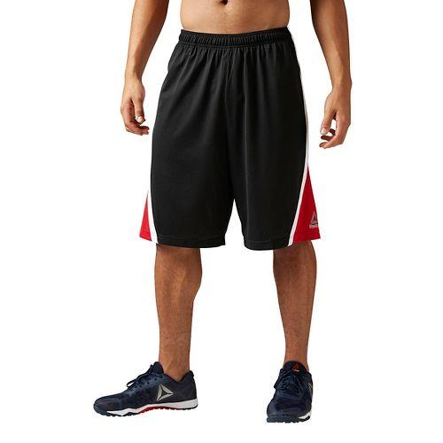 Mens Reebok Workout Ready Basketball Unlined Shorts - Black M