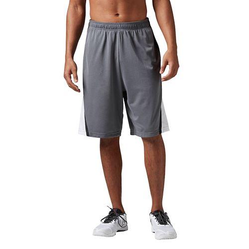 Mens Reebok Workout Ready Basketball Unlined Shorts - Alloy M