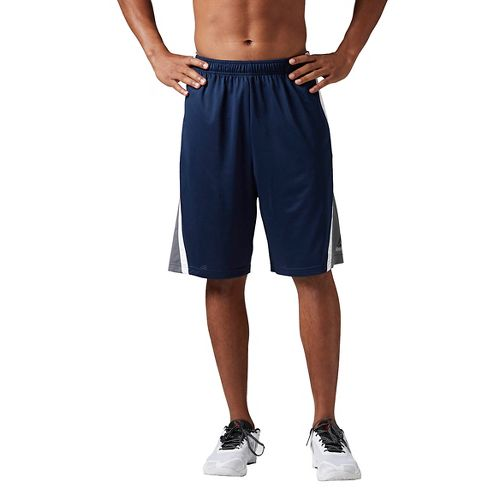 Mens Reebok Workout Ready Basketball Unlined Shorts - Navy M