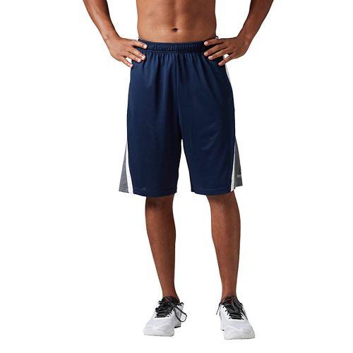 Mens Reebok Workout Ready Basketball Unlined Shorts - Navy S