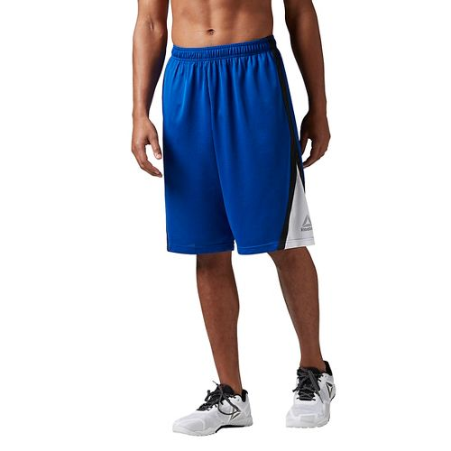 Mens Reebok Workout Ready Basketball Unlined Shorts - Royal L