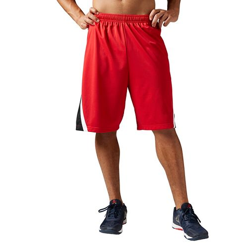 Mens Reebok Workout Ready Basketball Unlined Shorts - Red L