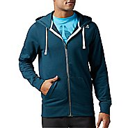 Mens Reebok Elements French Terry Full-Zip Half-Zips & Hoodies Technical Tops