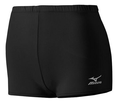 Womens Mizuno Low Rider Compression & Fitted Shorts - Black XXS