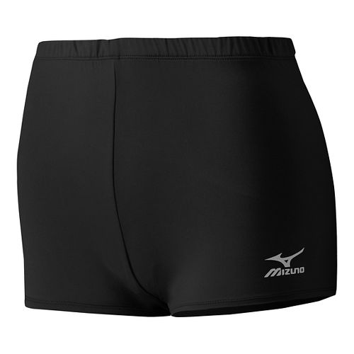 Womens Mizuno Low Rider Compression & Fitted Shorts - Black XS