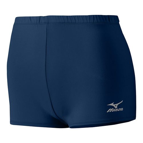 Womens Mizuno Low Rider Compression & Fitted Shorts - Navy XL