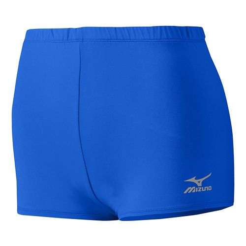 Womens Mizuno Low Rider Compression & Fitted Shorts - Royal XS