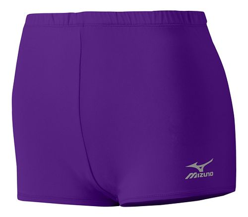 Womens Mizuno Low Rider Compression & Fitted Shorts - Purple XS