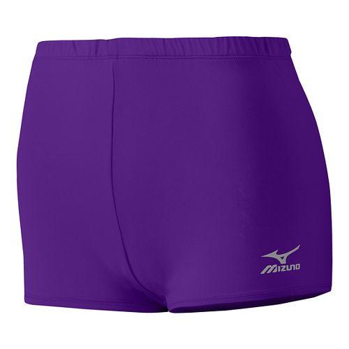Womens Mizuno Low Rider Compression & Fitted Shorts - Purple M