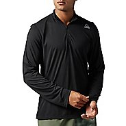 Mens Reebok Workout Ready Supremium 2.0 1/4 Zip Half-Zips & Hoodies Technical Tops