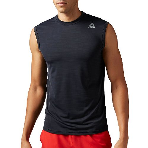 Mens Reebok Workout Ready ACTIVChill Sleeveless & Tank Tops Technical Tops - Black L
