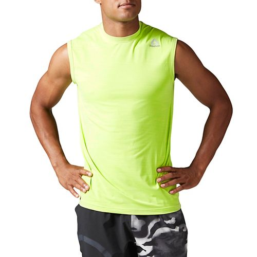 Mens Reebok Workout Ready ACTIVChill Sleeveless & Tank Tops Technical Tops - Kiwi Green M ...