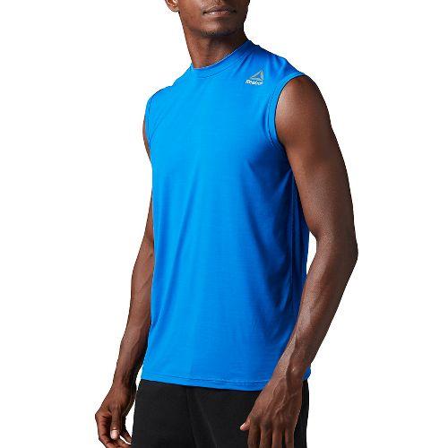 Mens Reebok Workout Ready ACTIVChill Sleeveless & Tank Tops Technical Tops - Blue L