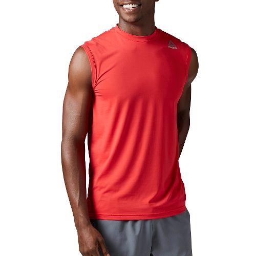 Mens Reebok Workout Ready ACTIVChill Sleeveless & Tank Tops Technical Tops - Red XL