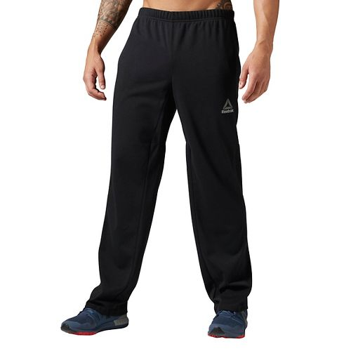 Mens Reebok Workout Ready Speedwick Open Hem Pants - Black XXL