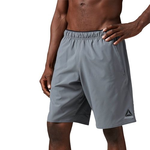 Mens Reebok Workout Ready Woven Graphic Unlined Shorts - Alloy L