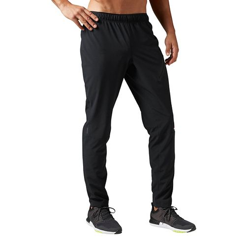 Mens Reebok Woven Trackster Pants - Black L
