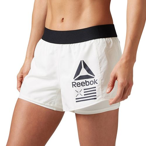 Womens Reebok 2-in-1 Shorts - Chalk L