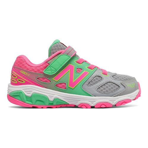 New Balance 680v3 Running Shoe - Grey/Green/Pink 12C