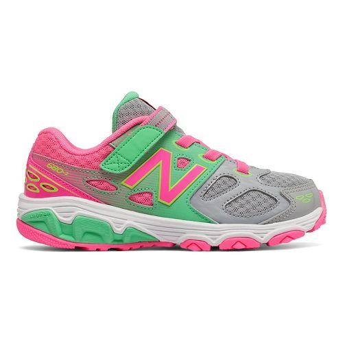 New Balance 680v3 Running Shoe - Grey/Green/Pink 6.5Y