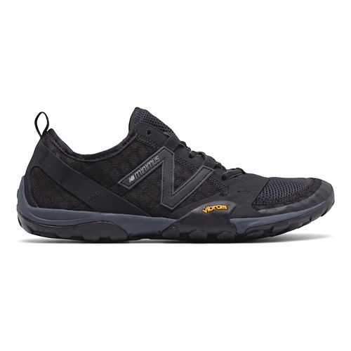 Mens New Balance 10v1 Trail Running Shoe - Black/Silver 11.5