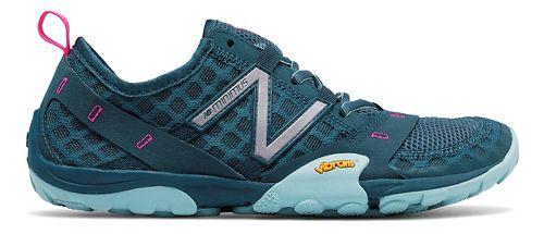 Womens New Balance 10v1 Trail Running Shoe - Grey/Blue 8.5