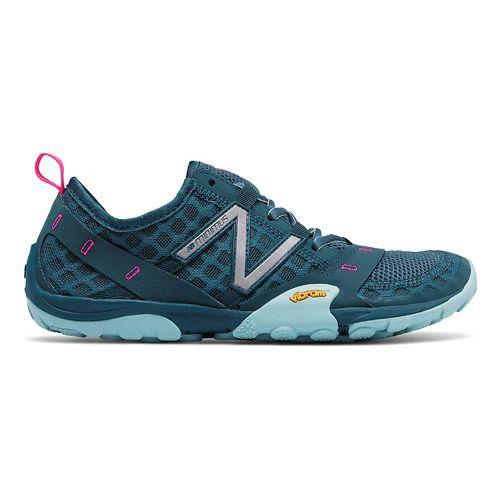 Womens New Balance 10v1 Trail Running Shoe - Grey/Blue 7.5