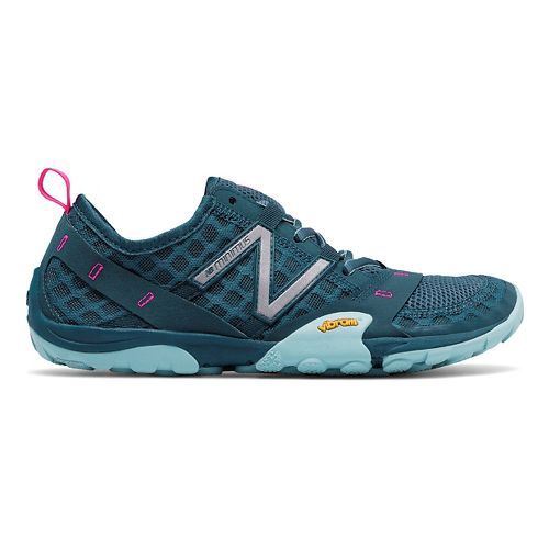 Womens New Balance 10v1 Trail Running Shoe - Grey/Blue 8.5