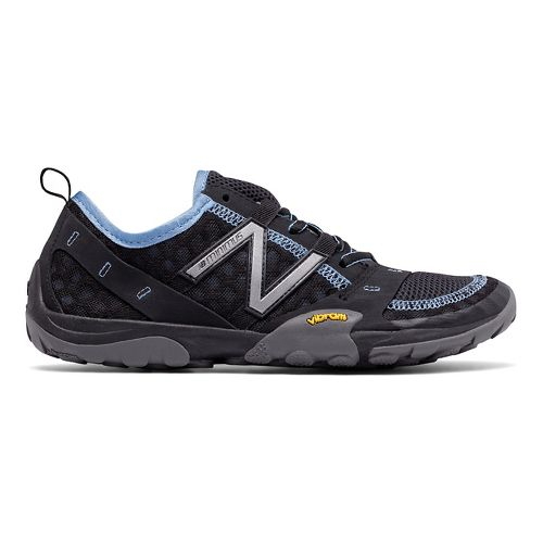 Womens New Balance 10v1 Trail Running Shoe - Black/Blue 7.5