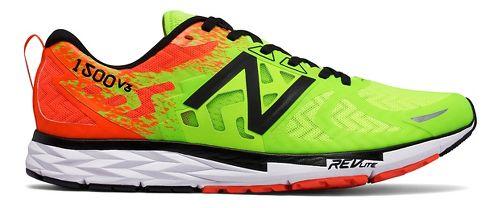 Mens New Balance 1500v3 Running Shoe - Green/Orange 9