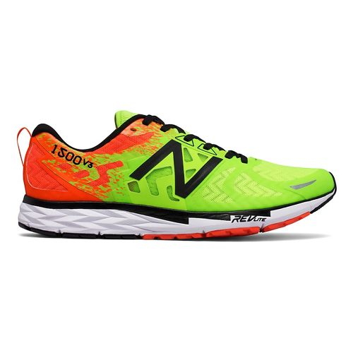Mens New Balance 1500v3 Running Shoe - Green/Orange 10.5