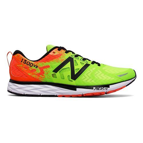 Mens New Balance 1500v3 Running Shoe - Green/Orange 11