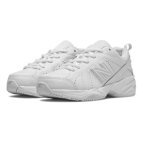 New Balance 624v2 Cross Training Shoe - White 6Y