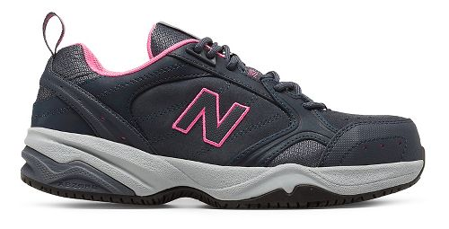 Womens New Balance 627v1 Walking Shoe - Dark Grey/Pink 10.5