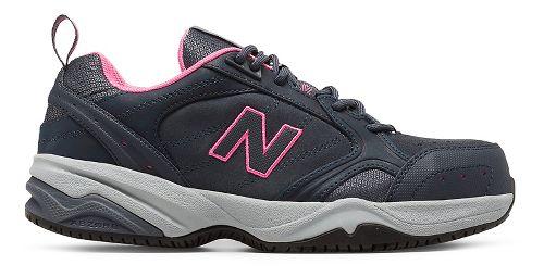 Womens New Balance 627v1 Walking Shoe - Dark Grey/Pink 9.5