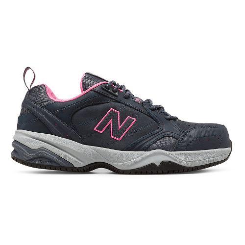 Womens New Balance 627v1 Walking Shoe - Dark Grey/Pink 12