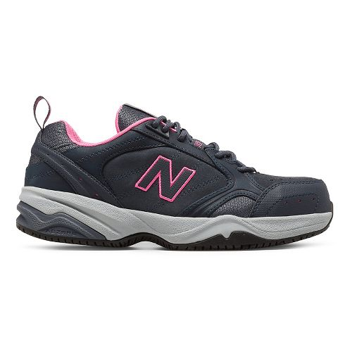 Womens New Balance 627v1 Walking Shoe - Dark Grey/Pink 6.5