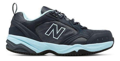 Womens New Balance 627v1 Walking Shoe - Dark Grey/Blue 5