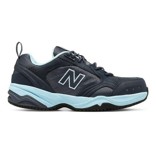 Womens New Balance 627v1 Walking Shoe - Dark Grey/Blue 6.5