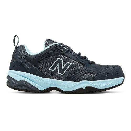 Womens New Balance 627v1 Walking Shoe - Dark Grey/Blue 7.5