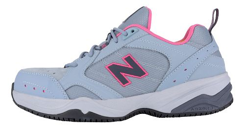 Womens New Balance 627v1 Walking Shoe - Light Grey/Pink 7