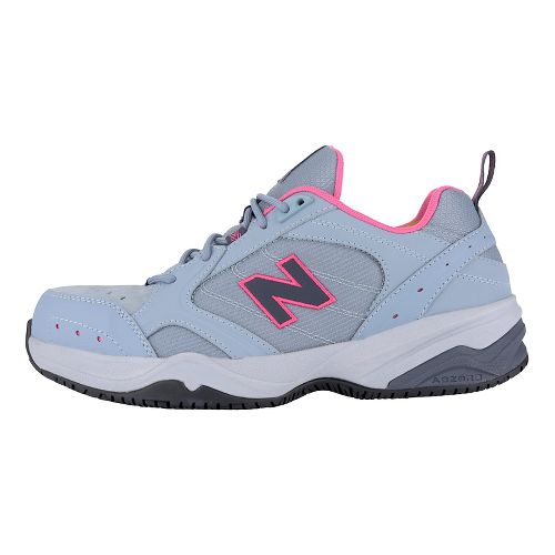 Womens New Balance 627v1 Walking Shoe - Light Grey/Pink 8.5