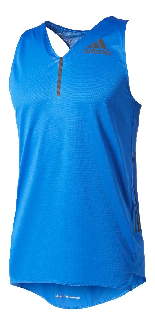 Mens Adidas Adizero Singlet Sleeveless & Tank Tops Technical Tops - Blue S