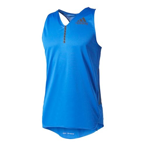 Mens Adidas Adizero Singlet Sleeveless & Tank Tops Technical Tops - Blue XL