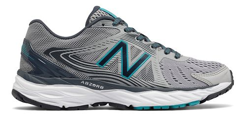 Womens New Balance 680v4 Running Shoe - Grey/Teal 10.5