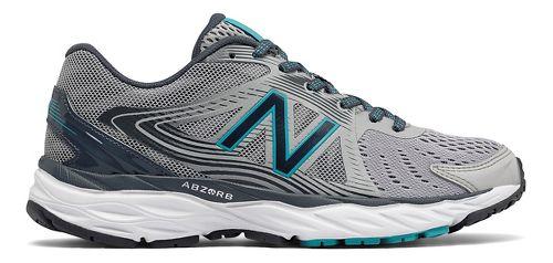 Womens New Balance 680v4 Running Shoe - Grey/Teal 5.5