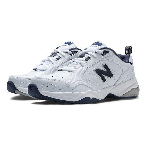 Mens New Balance 624v2 Cross Training Shoe - White/Navy 9