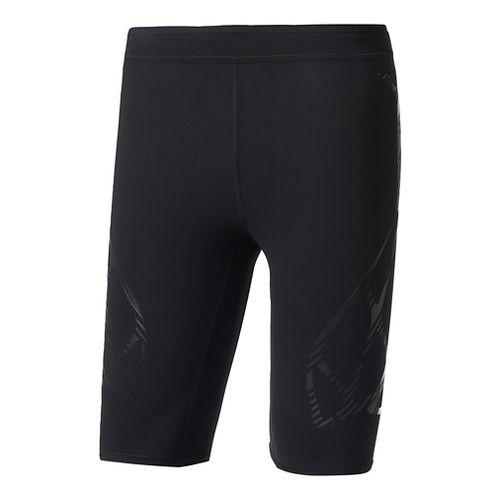 Mens Adidas Adizero Sprintweb Compression & Fitted Shorts - Black XL