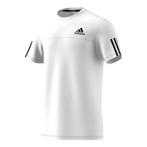 Mens Adidas Essentials Tech Color block Tee Short Sleeve Technical Tops - White S